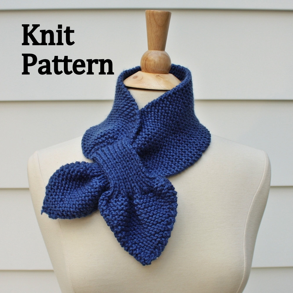 Knit Scarf Pattern - Keyhole Scarf Pattern - Unique No Slip Warm ...