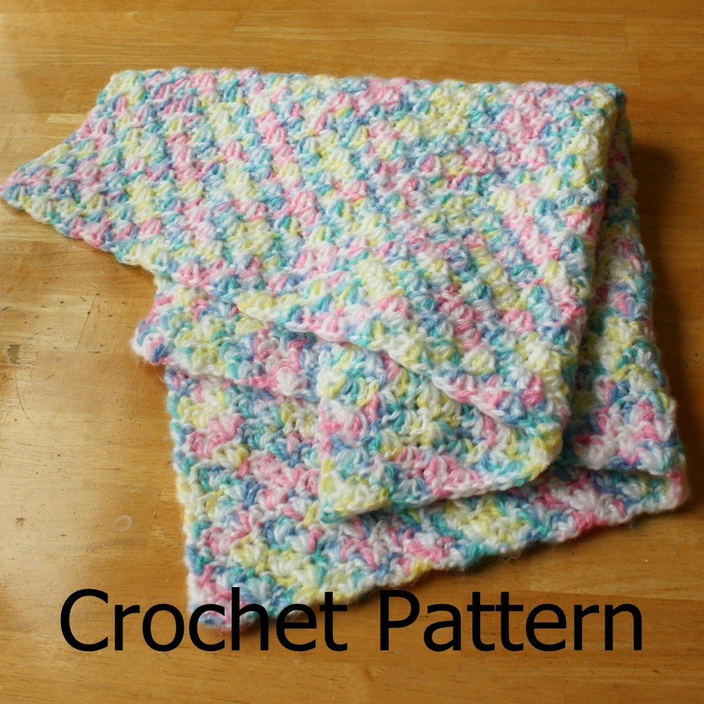 Crochet Baby Blanket Pattern Simple Shell Pattern Easy On Luulla