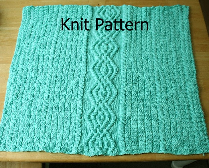 Knit Pattern - Baby Blanket Pattern - Cable Warm Unique on Luulla